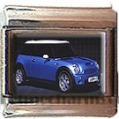BLUE MINI COOPER ITALIAN CHARM CHARMS