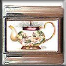 FLORAL VICTORIAN TEAPOT ITALIAN CHARM CHARMS