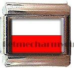 POLAND FLAG ITALIAN CHARM CHARMS