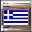 GREEK FLAG ITALIAN CHARM CHARMS