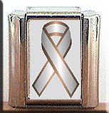 BONE CANCER AWARENESS ITALIAN CHARM CHARMS
