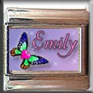 CUSTOM NAME HEART BUTTERFLY ITALIAN CHARM