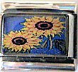 SUNFLOWER ITALIAN CHARM CHARMS