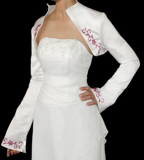 Embroidered sanit new white Jacket