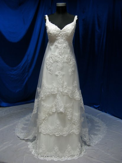 Sexy wedding gown Strapless A-Line Gown,Chapel train eveing dress custom make