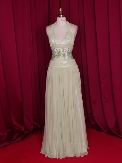 Sexy silk prom evening dress