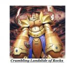 Crumbling Landslide of Rocks Structure Deck
