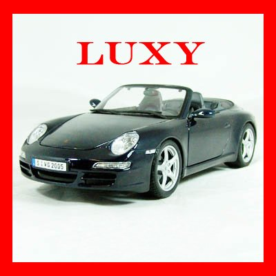 Maisto 1:18 Porsche 911 997 Sports Car Black Diecast Model Luxy Collectibles