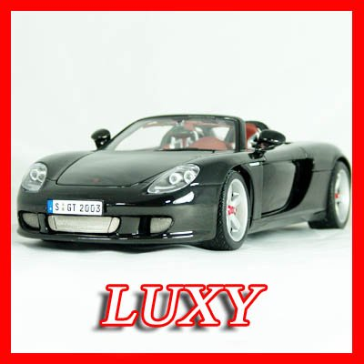 Maisto 1:18 Porsche Carrera GT Black Exotic Diecast Car Model Luxy Collectibles