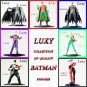 BATMAN & Robin Set of 7 Licensed Figure DC Comic  Anime Yamato Luxy Collectibles