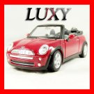 1.24 Mini Cooper Convertible Maisto Quality Diecast Model Luxy Collectibles Red