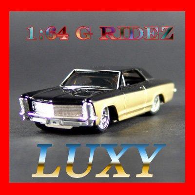 Maisto 1:64 1965 BUICK RIVIERA GRAN SPORT G RIDEZ Quality Diecast Car Model Luxy Gold