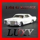 Maisto 1:64 1965 BUICK RIVIERA GRAN SPORT G RIDEZ Quality Diecast Car Model Luxy White