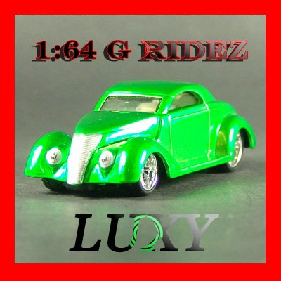 Maisto 1:64 1937 FORD COUPE G RIDEZ Quality Diecast Car Luxy Collectibles Green