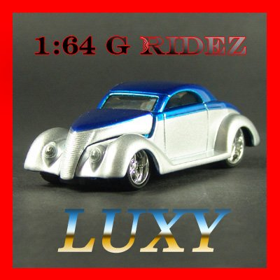 Maisto 1:64 1937 Ford Coupe G Ridez Quality Diecast Car Luxy Collectibles Blue/Silver