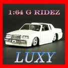 "Maisto 1:64 1987 Buick Regal ""T-Type"" G Ridez Quality Diecast Luxy Collectibles White"