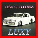 "Maisto 1:64 1987 Buick Regal ""T-Type"" G Ridez Quality Diecast Luxy Collectibles White"