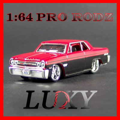 Maisto 1:64 1965 CHEVY MALIBU SS Muscle Car Pro Rodz Diecast Luxy Collectibles Red