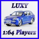 Maisto 1:64 PORSCHE CAYENNE TURBO EXCLUSIVE DUB Playerz Diecast Car Luxy Collectible Dark Blue