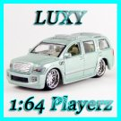 Maisto 1:64 INFINITI Q56 DUB Playerz Diecast Car Model Luxy Collectibles Cream Light Blue