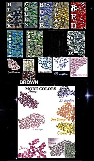 4mm 16ss u pick color hot fix rhinestones 1 gross
