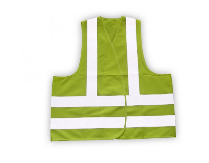 Reflective Safety Vest Yellow - Oversize - SKU 5005
