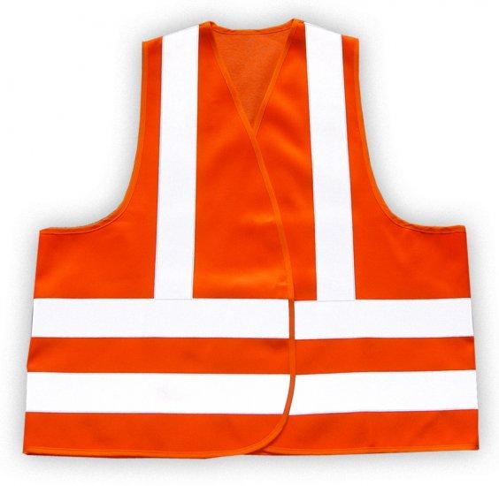 Reflective Safety Vest Orange - Oversize - SKU 5006