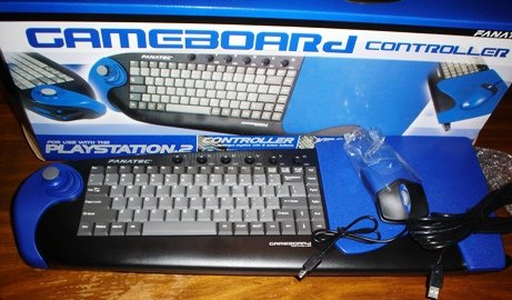 New Gameboard, Keyboard, Mouse, Joystick, for PC and Playstation 2 PS2 New