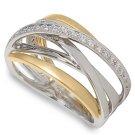 Peter Lam 1/5 ctw Diamond Orbit Ring in 18k  size 6