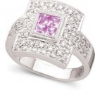 Peter Lam Pink Sapphire & Diamond Ring in 18k size 6