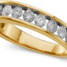 1 ctw Diamond and Yellow Gold Channel Set Band size