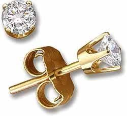 1/10 ctw Round Diamond Stud Earrings