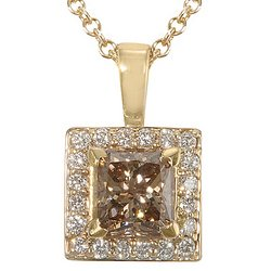 JPM Collection Chocolate Diamond Pendant 14-k