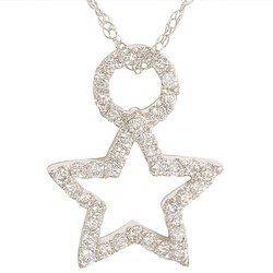 Genesis Collection 1/5 ctw Diamond Star Pendant