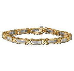 "1 3/4ctw Diamond ""X"" Tennis Bracelet  14-k"