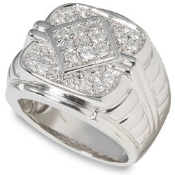 1 ctw Men's Round Diamond Ring  14-k size 10