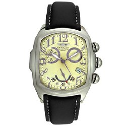 Men's Creme Dial Invicta Chronograph with Date