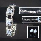 Moonstone,Sapphire Bracelet & Ear Set