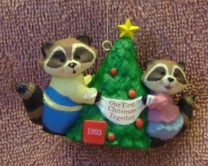 Hallmark 1993 Our First Christmas Together Ornament Free Shipping