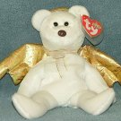TY Beanie Baby Halo II Angel Bear 2000 Retired Free Shipping