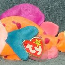TY Beanie Baby Lips the Fish 1999 Retired Free Shipping