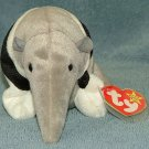 TY Beanie Baby Ants the Anteater 1998 Retired Free Shipping