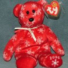 TY Beanie Baby Snowbelles Red Bear (Rare) 2006 Retired Free Shipping
