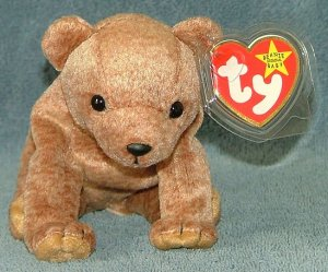 TY Beanie Baby Pecan the Bear 1999 Retired Free Shipping
