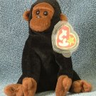 TY Beanie Baby Congo the Gorilla 1996 Retired Free Shipping