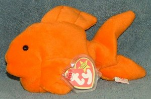 TY Beanie Baby Goldie the Gold Fish 1993 Retired Free Shipping