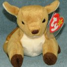TY Beanie Baby Whisper the Deer 1998 Retired Free Shipping