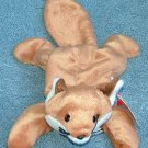 TY Beanie Baby Sly the Fox (White Belly) 1996 Retired Free Shipping