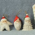 Christmas Around the World Set of 4 Santa Ornaments