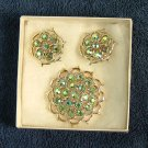 Vintage Sarah Coventry Lime-Light Brooch & Earring Set